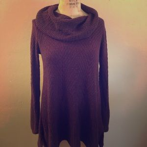 Deep Red and Black Eight Eight Eight Sweater